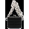 Black. Bag. Chains - Hand bag -
