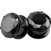Black CZ Stone Plugs Piercings - Aretes - $11.99  ~ 10.30€