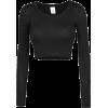 Black Crop Top - Camisa - longa -