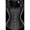 Black Faux Atomic Waistcoat Corset - Other -