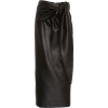 Black Faux Leather Midi Skirt - Other -