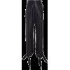 Black Faux Leather Tie Leg Pants - Other -