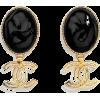 Black. Gold. CHANNEL - Earrings -