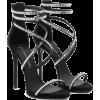 Black Heels - Sandals -