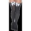 Black Knee High Socks with Bows - Underwear -