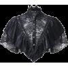 Black Lace Crop Top - Bolero -