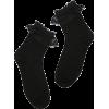 Black Lace Socks - Uncategorized -