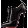 Black Lace Up Heels - Klasične cipele -