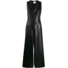 Black Leather Faux Leather Vegan Jumpsui - Other -
