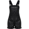 Black Leather Romper - Other -