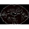 Black Lipstick Kiss Design - Ilustrationen -