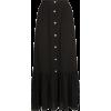 Black Midi Skirt - スカート -