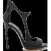 Black Open Side Pumps - Scarpe classiche -
