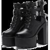 Black Platform Strap High-heels Shoes - Botas -