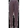 Black. Red. Stripes. Pants - Capri & Cropped -