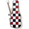 Black Red White Checker Guitar Case - Other - $61.90