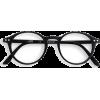 Black Round Frame Glasses - 度付きメガネ -