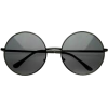 Black Round Sunglasses - 墨镜 -