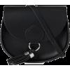 Black Saddle Bag - Carteras -