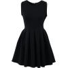 Black Skater Dress - Dresses -