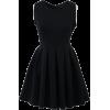 Black Skater Dress - Vestidos -
