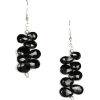 Black Spinel Earrings - Kolczyki - $29.99  ~ 25.76€