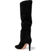 Black Suede Boots - Stivali -