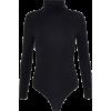 Black Turtneleck Bodysuit - Long sleeves t-shirts -