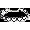 Black Velvet Heart Maxi Choker Necklace - ネックレス -