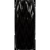Black Velvet Sequin Pencil Skirt - Skirts -