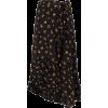 Black Warp Floral Skirt - Suknje -