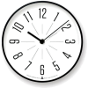 Black. White. Clock - Muebles -