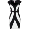 Black & White Dress - Dresses -