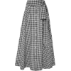 Black & White Gingham Skirt - Illustrations -