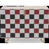 Black White Red Checker Credenza - Furniture - $649.00