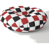 Black White Red Checker Floor Pillow - Other - $89.99