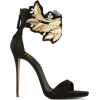 Black and Gold Heels - Scarpe classiche -