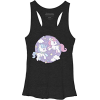 Black and Purple Cloud Ponies Tank - Tanks -