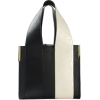 Black and White Bag - Hand bag -