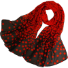 Black and red chiffon scarf - Scarf -