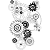 Black and white gears sketch - Illustrations -
