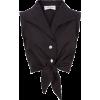 Black cropped blouse - Shirts -