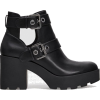 Black cut-out heeled ankle boots - Platforms -