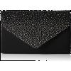 Black diamante clutch bag rhinestone - Torbe s kopčom -