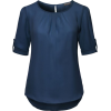 Black Cuffed Sleeve Shirt - Illustrations -