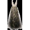 Black gold dress - Dresses -