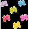 Blackheart Glitter Heart Hair Clips - Other jewelry -