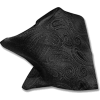 Black paisley pocket square - Tie -