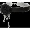 Black rose choker necklace - Ogrlice -
