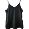Black silk camisole - Tanks -